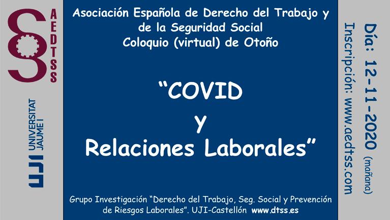 """Coloquio Virtual Otoño """"COVID y Relaciones Laborales"""""""