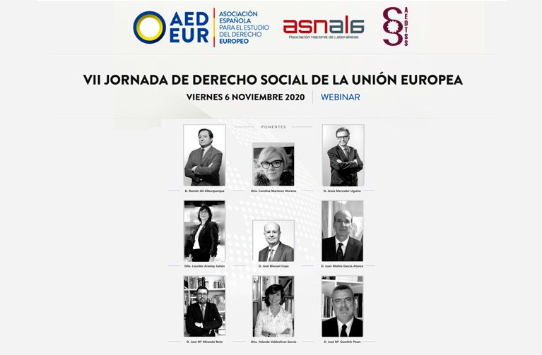 VII JORNADA DE DERECHO SOCIAL DE LA UNIÓN EUROPEA